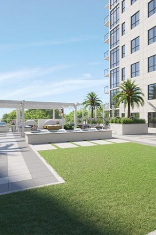 Rooftop social space